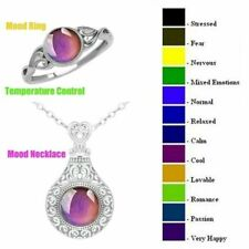 Rings Feeling Color And Vintage Change Temperature Necklace Pendant Mood Emotion