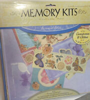 Memory Kits 6 Pg Scrapbook Kit 12x12 Botanical Bliss Butterfly Gemstones Glitter
