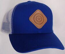 Hat Cap Marvel Comics Captain America Scout Patch White Mesh Blue CC