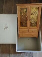 dollhouse miniatures Bedroom Furniture Armoire Dresser Cabinet Wood