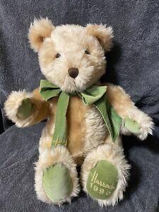 "Harrods Plush 14"" Teddy Bear 1995 Christmas Vintage Collectible"