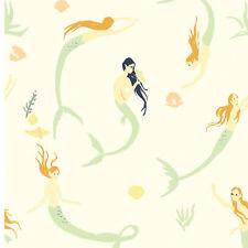 Mermaid fabric - Birch Fabrics organic cotton Saltwater Mermaids Day