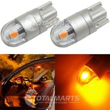 2x T10 194 168 W5W 2SMD LED Wedge Light Plate License Bulb Lamp Power Amber
