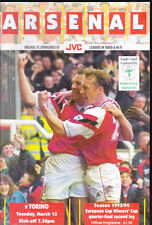 1993/94 Arsenale V TORINO 15-03-1994 CUP WINNERS CUP quarter-final 2nd Gamba