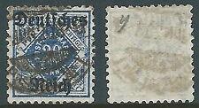 1920 WURTEMBERG USATO SOPRASTAMPATO DEUTSCHES REICH  20 PF