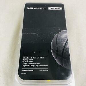 Lifetime Basketball Court Marking Kit Chalk Box Plumb Line Paint Roller 0900 New