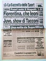 GAZZETTA DELLO SPORT 7-12-1989 COPPA UEFA FIORENTINA JUVENTUS MILAN SUPERCOPPA