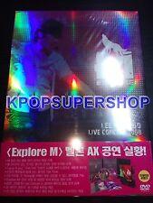 M (Lee Min Woo) Live Concert 2008 'EXPLORE M'  DVD New RARE OOP Shinhwa Min Woo
