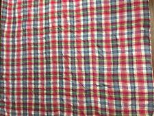 Ralph Lauren Sundeck Raspberry Red Madras Plaid Twin Comforter
