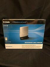 D-Link DCM-202 DOCSIS 2.0 USB/Ethernet Cable Modem ....NEW FACTORY SEALED BOX