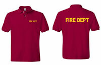 Firefighter Fire Dept. Emergency Services Polo T -Shirts Sizes S-5XL