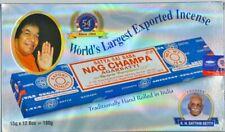 India's Satya Sai original burner NAG CHAMPA Agarbatti incense sticks 12 Pack