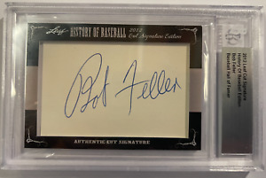 2012 Leaf History of Baseball Cut Signature Edition HOF BOB FELLER Auto