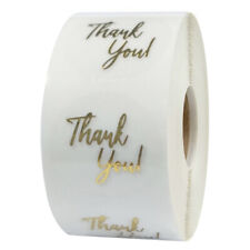 "Gold stamping ""thank you"" transparent sticker gift seal labels 500pcs/roll"