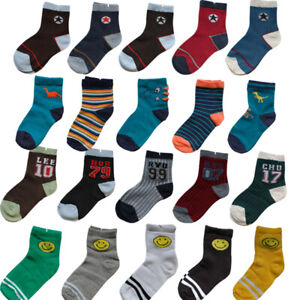 10 pairs Cushion ankle socks sock new girl girls boy boys toddler kids kid sport