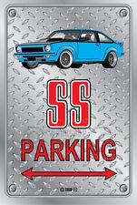 Parking Sign Metal Torana A9X SS Light Blue - Checkerplate Look