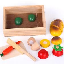 Coffret Légumes à Découper Jouet en Bois Dinette Marchande Cuisine Enfant Jeu