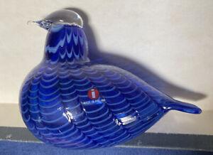 Oiva Toikka Bird Blue Jay Annual Bird Design glass Birds by Toikka Iittala