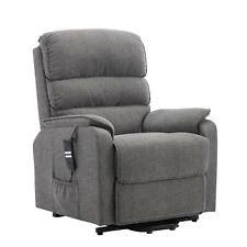 Henley Riser Recliner Chair Dual Motor Heat & Massage Grey Fabric - Clearance