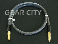 coa30 1m 3ft Digital Coaxial Silver Cable Audio Video AV RCA Plug Subwoofer HiFi