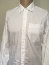 APOLIS ACTIVISM DEFEND TOMORROW LONG SLEEVE BUTTON UP SHIRT White USA MADE M