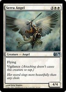 4 * Ange de serra - 4 * Serra angel - Bords noirs - Magic Mtg