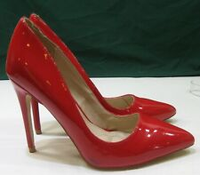 "ladies Red 4""Stiletto High Heel Pointy Toe Sexy Shoes WOMEN Size 6"