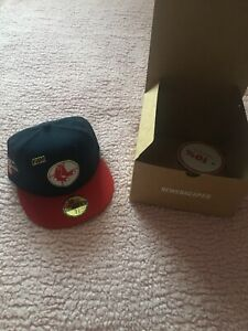 LIMITED 59FIFTY MLB BOSTON RED SOX WS 1967 TWO TONE/GOLD UV SIZE 7 5/8 HAT Fam
