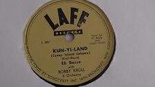 Eli Basse - 78rpm single 10-inch – LAFF Records #L-507/508 Kun-Yi-Land