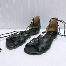 *Michael Kors Black Sandals Leather Gladiator Size 10M