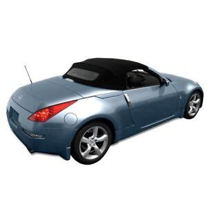 Fits: Nissan 350Z Convertible Top & Heated Glass Window 2003-09 Black Twillweave