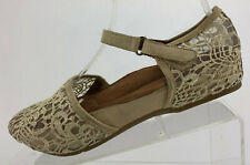 Kalso Earth Envision Mary Jane Brown Beige Casual Flat Shoes Comfort Womens 6 B