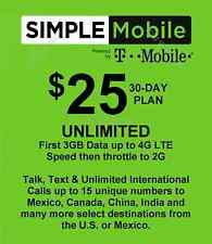 Simple Mobile preloaded SERVICE with $25 dollar plan (BRING YOUR OWN SIM)