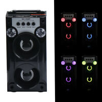 Bluetooth LED USB AUX TF FM Radio Portable Outdoor Wireless Super Bass Speaker