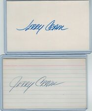 (2) JERRY CRAM INDEX CARD SIGNED 1968 '76 ROYALS '74-75 METS PSA/DNA CERTIFIED