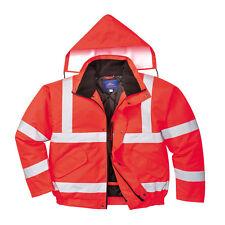 Portwest hombre alta visibilidad Cazadora de aviador NARANJA / rojo / Amarillo