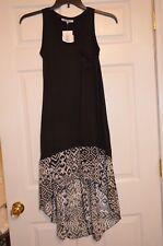 Stilletto's Women's Size S Small Hi / Low Beach Dress - Black / White - New