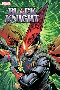 "Black Knight Curse of  Ebony Blade #1 24"" x 36"" Folded Promo Poster Marvel 2021"