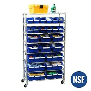 SEVILLE CLASSICS COMMERCIAL 7-TIER 24 BIN NSF-NEW-PICK UP/DELIVERY IN LONG ISLA