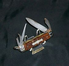 "Camillus No.258 Scout Knife Circa-1928 ""Sword Brand"" 3-3/4"" Closed Stag Handles"