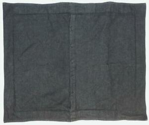 "LAUREN RALPH LAUREN Denim PILLOW SHAM 25"" x 30"" Black Cotton Button Closure"