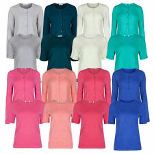 Marks and Spencer Women's Short Sleeve Hip Length Jumpers & Cardigans