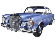 1969 MERCEDES 280 SE COUPE LIGHT BLUE METALLIC 1/18 CAR MODEL BY NOREV 183532