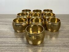 Set of 10 Gold Brass Hammered Metal Napkin Rings Tableware Holiday Entertaining
