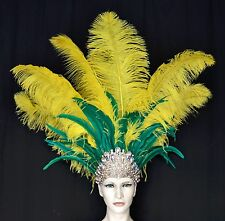 Showgirl Samba Carnival-Dance -Headdress Ostrich Feather-MADE IN USA