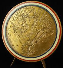 Médaille émaillée buste de Marianne figure de la France sc Chauvenet c1970 medal