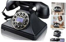 Corded Retro Landline Phone for Home,  Vintage Classic Desk Telephone with LCD S