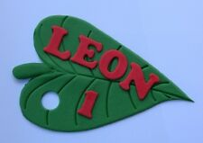 1 edible NAME MESSAGE PLAQUE HUNGRY CATERPILLAR LEAF cake topper DECORATION