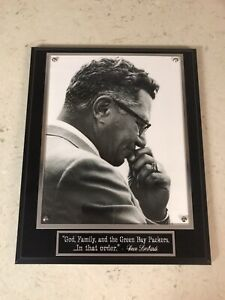 """Vince Lombardi Green Bay Packers """"God, Family, and The Green Bay Packers"""" Plaque"""