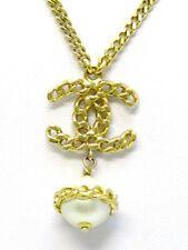 CHANEL B17 V Collier Halskette mit 3 Perlen Pearl Necklace CC 2017 Collection